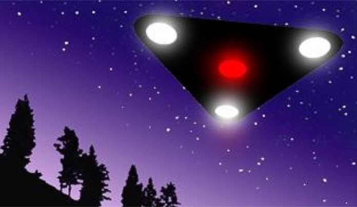 Triangular UFO Seen Over Head